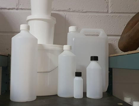 1 Litre HDPE Bottle With White Cap 28mm