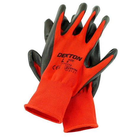 Professional Dekton Ultra Grip Nitrile Coated Protection Working Gloves