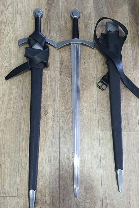 Rentals - Medieval Sword and Scabbard (Metal/Blunt)