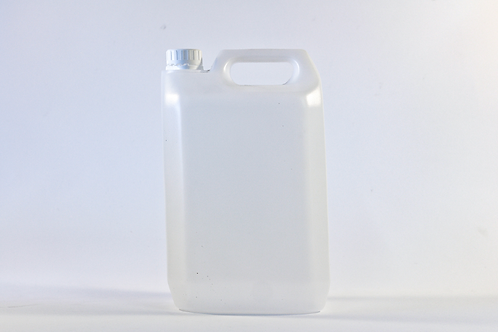5 Litre HDPE Natural Jerrycan With 38mm White t/e caps