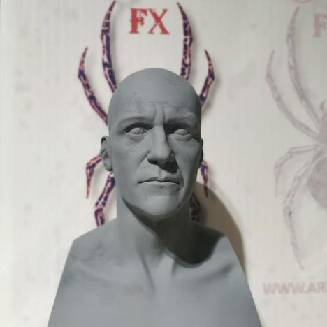 Half scale male sculpting bust - armature
