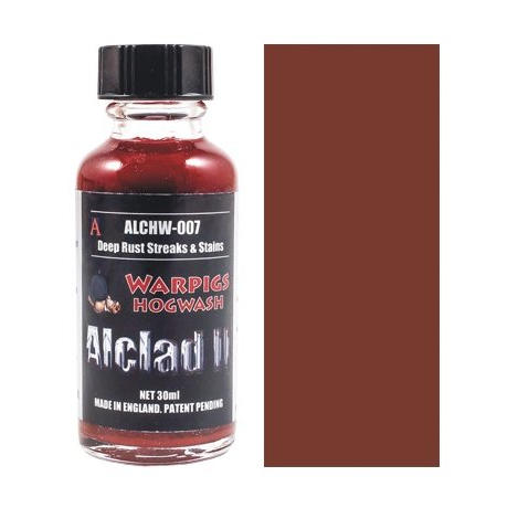 Alclad Hogwash Washes - Deep Rust, Streaks & Stains
