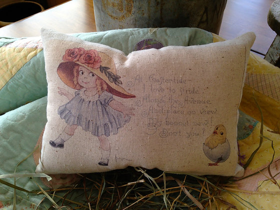 "Vintage ""At Eastertide"" Pantry Pillow"