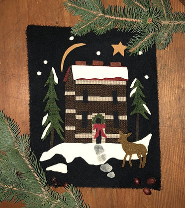 """NEW!  #422 """"A Cabin Christmas"""" Block Two"""