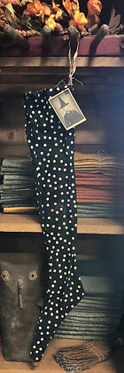 NEW!  Olde Vintage Witchy Skinny Stocking Dots & Spots