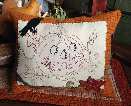 "#255  ""Hallowe'n"" Wool and Needle Art Pattern"