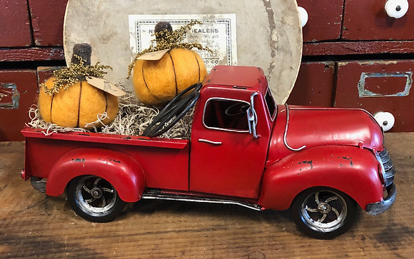 """NEW!  """"Our Cottonwood House Red Truck"""""""