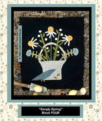 "NEW!  #557 ""Simply Spring"" BLOCK FOUR"