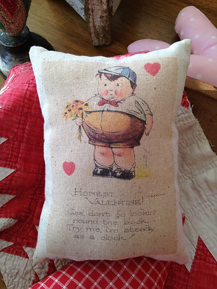 "Vintage ""Honest Valentine"" Pantry Pillow"