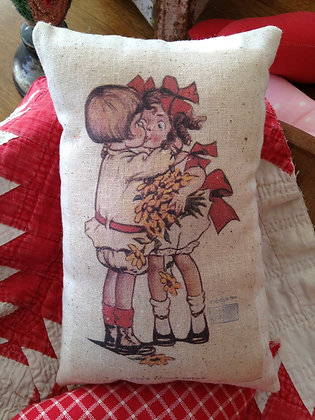 "Vintage ""Love's Young Dream"" Pantry Pillow"