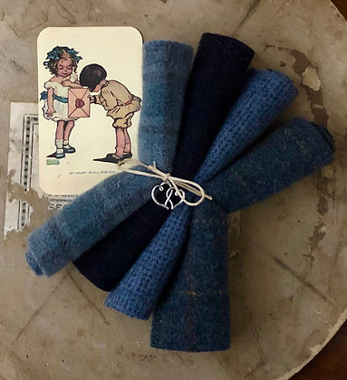 "NEW!  ""True Blue"" Valentine Wool Bundle"
