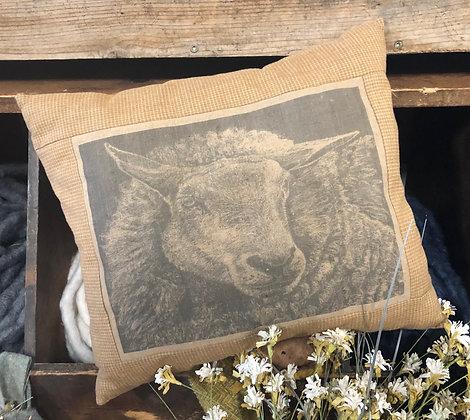 "NEW!  ""A Spring Ewe"" Vintage Pillow"