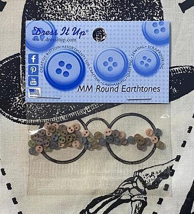 "NEW! ""Earthtones"" Micro Mini Round Buttons"