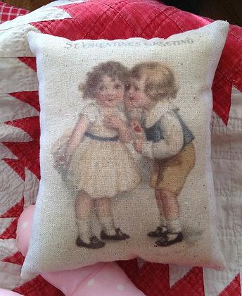 "Vintage ""St. Valentine's Greeting"" Pantry Pillow"