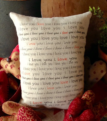 "NEW!  Vintage ""I LOVE YOU""  Olde Pantry Pillow"