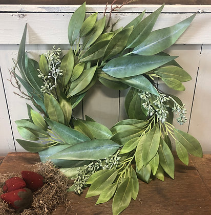 "NEW!  ""Cinnamon & Olive Leaf Wreath"""
