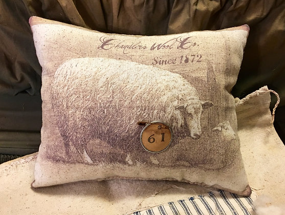 NEW!  Olde Chandler's Wool Co. Pantry Pillow