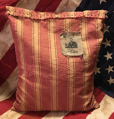 NEW!  Olde Abe Primitive Saw Dust Pillow