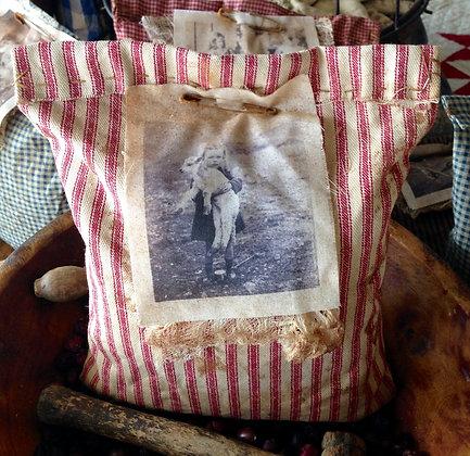 """Lost Lamb"" Very Primitive Sawdust Pillow"