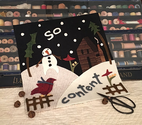 """#302 """"So Content"""" January Wool Block"""