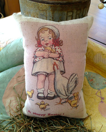 """Vintage """"A Happy Easter"""" Pantry Pillow"""