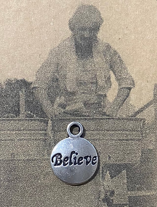 "NEW!  ""Believe"" Sewing Charm"