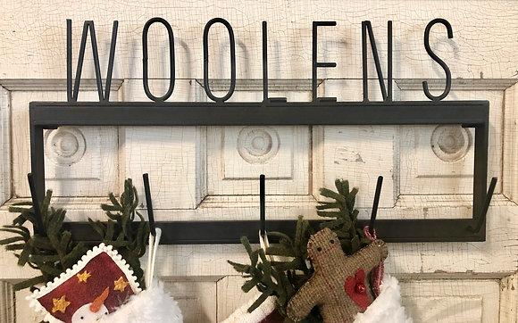 """NEW!  """"Woolens"""" Metal Rack"""