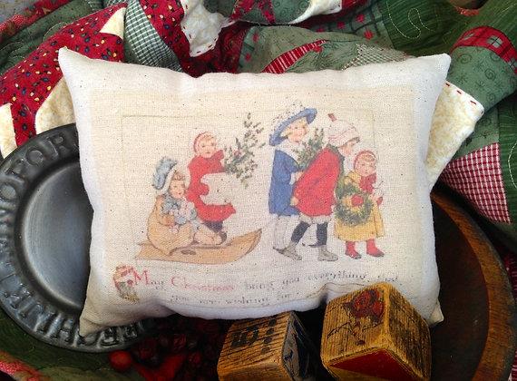 """Olde Vintage """"Wishing"""" Pantry Pillow"""