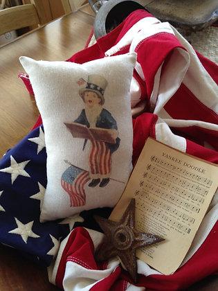 "Vintage ""Yankee Doodle"" Pantry Pillow"