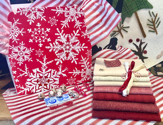 """NEW!  """"Candy Cane"""" Wooly Gift Box"""