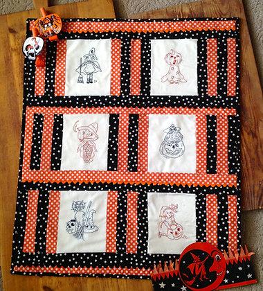 "NEW!  #253 ""Vintage Spooks""  Needle Art Quilt"