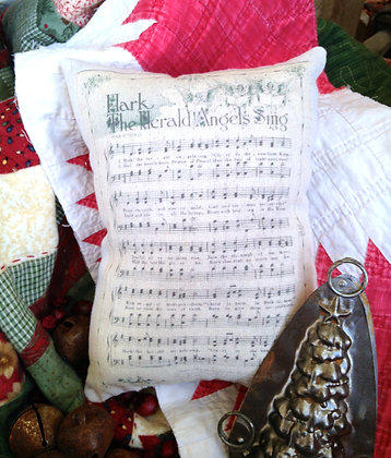 """Olde Vintage """"Hark the Angels"""" Pantry Pillow"""