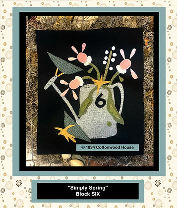 "NEW! #563 ""Simply Spring"" BLOCK SIX"