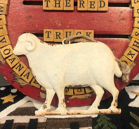 NEW!  Olde Vintage Ram Ornament