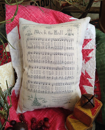"Olde Vintage ""Deck the Hall"" Pantry Pillow"