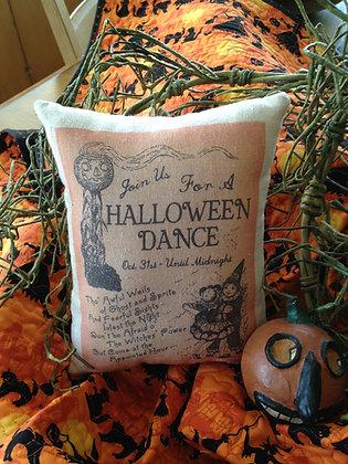 "Vintage ""Halloween Dance"" Pantry Pillow"