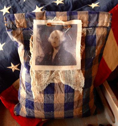 """Dear George"" Very Primitive Sawdust Pillow"