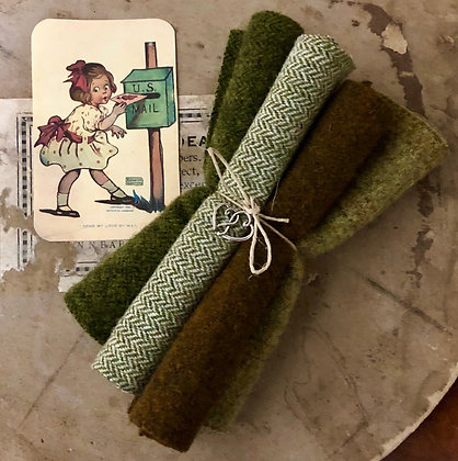 """NEW!  """"Green With Envy"""" Valentine Wool Bundle"""