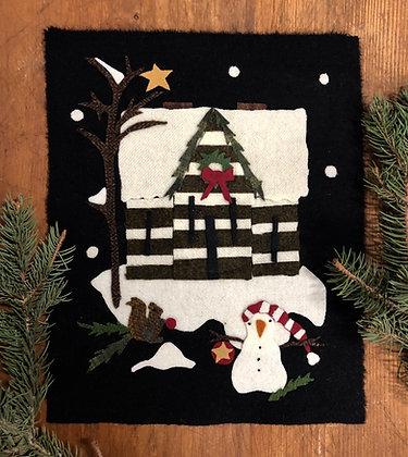 "NEW!  #431 ""A Cabin Christmas"" Block Three"