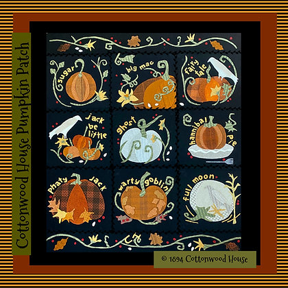 "NEW!  ""Cottonwood House Pumpkin Patch"" Pattern Bundle"