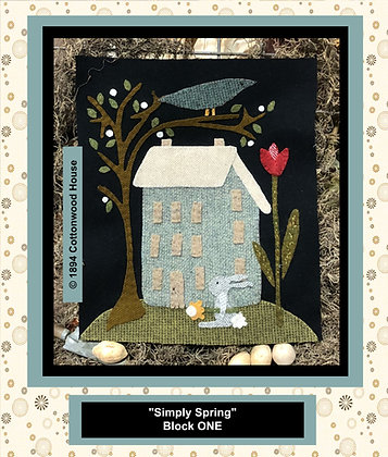 "NEW!  #550 ""Simply Spring"" BLOCK ONE"