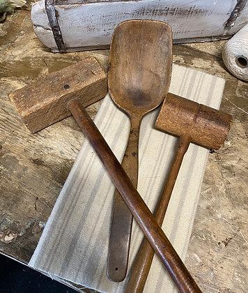 NEW!  Antique Wood Kitchen  Tools