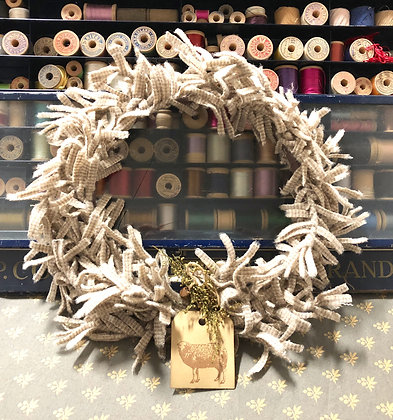 "#358 ""O' Wooly Farmhouse Wreath"" KIT  Without Pattern"