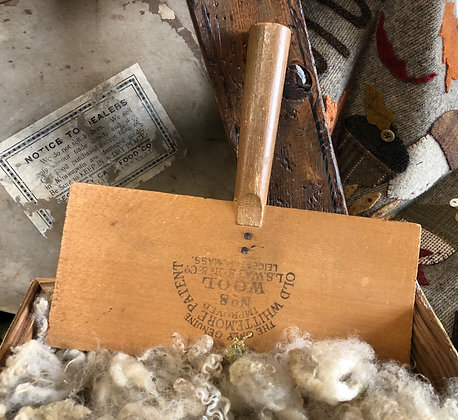 NEW!  Antique Olde Wool Carder #53