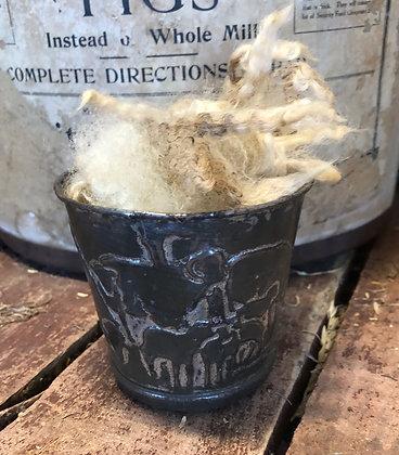 NEW!  Antique Child Lamb Tin Cup