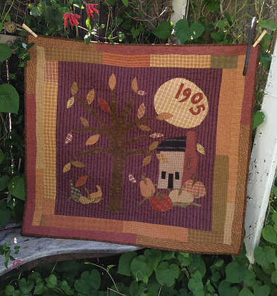 "#108  ""Kansas Leaves"" Quilt Pattern"