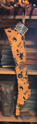 NEW!  Olde Vintage Witchy Skinny Stocking BOO