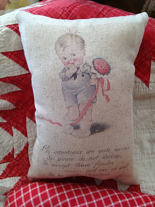 "Vintage ""My Intentions"" Pantry Pillow"