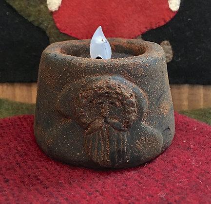 Blackened Beeswax Santa Flicker Tea Light