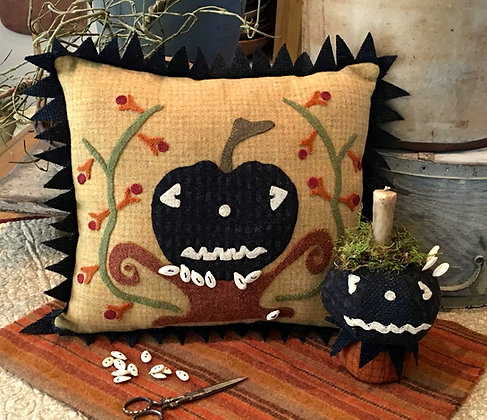 "NEW!  #279 ""Jack-Be-Spooky"" Wool Appliqué Pattern"